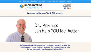 After nearly a decade with the same design, this chiropractor wanted something fresh when he moved his practice. Online appointment booking makes things easier for both the doctor and his patients.