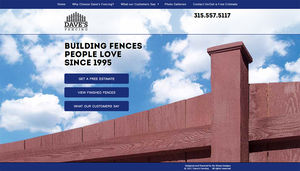 This fence builder wanted a website that was simple but made him stand out from the competition. We visited one of his clients, took photos, and exceeded his expectations!