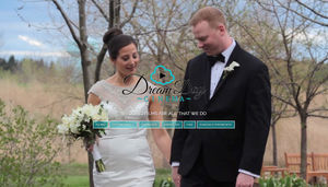 As a wedding video business, visitors need to be able to see examples of the work immediately. Not only is the navigation prominent and easy to use, but the entire home page functions as a showreel.